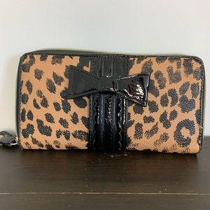 Betsey Johnson leopard print wallet